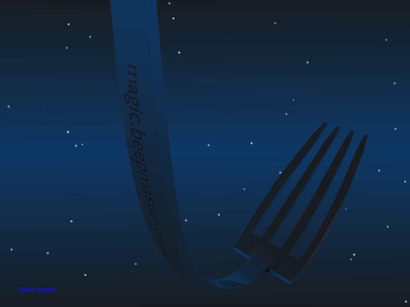 Fourchettes tordues magiquement